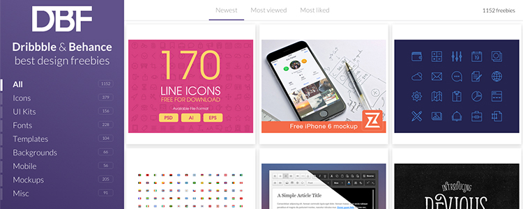 The best design freebies from Dribbble and Behance, all in one spot.