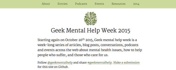 Geek Mental Help Week 2015