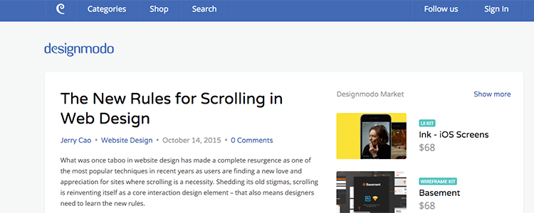 Scrolling is reinventing itself as a core interaction design element – that also means designers need to learn the new rules.