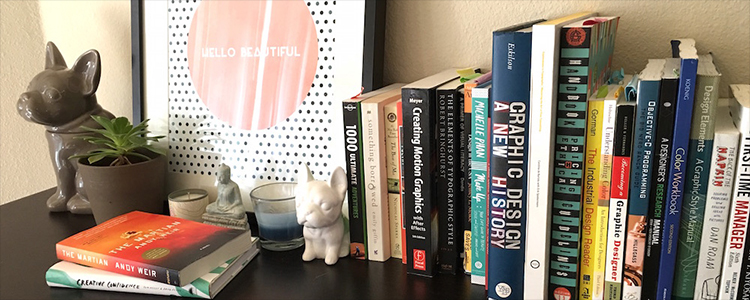 Take a peek at what's on the bookshelves of top designers.