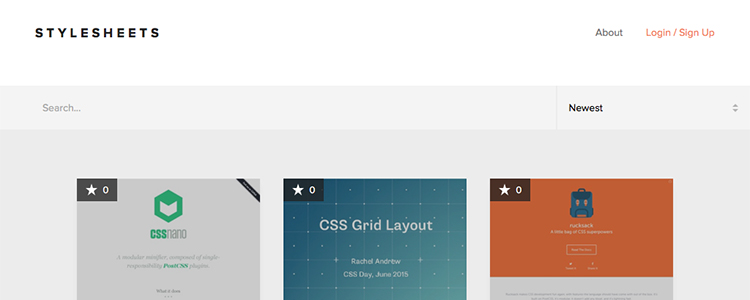 Stylesheets is a community-generated collection of the best CSS resources.