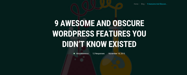 9 Awesome and Obscure WordPress Features You Didn't Know Existed