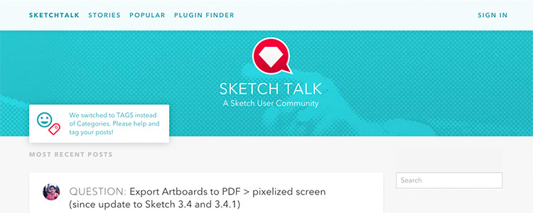 SketchTalk is a community news and resources website for Sketch App users