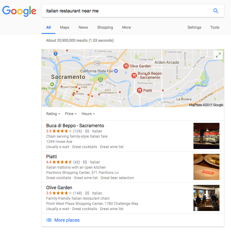 Restaurants Italian Near Me: SEO In 2017. What Can We Expect?