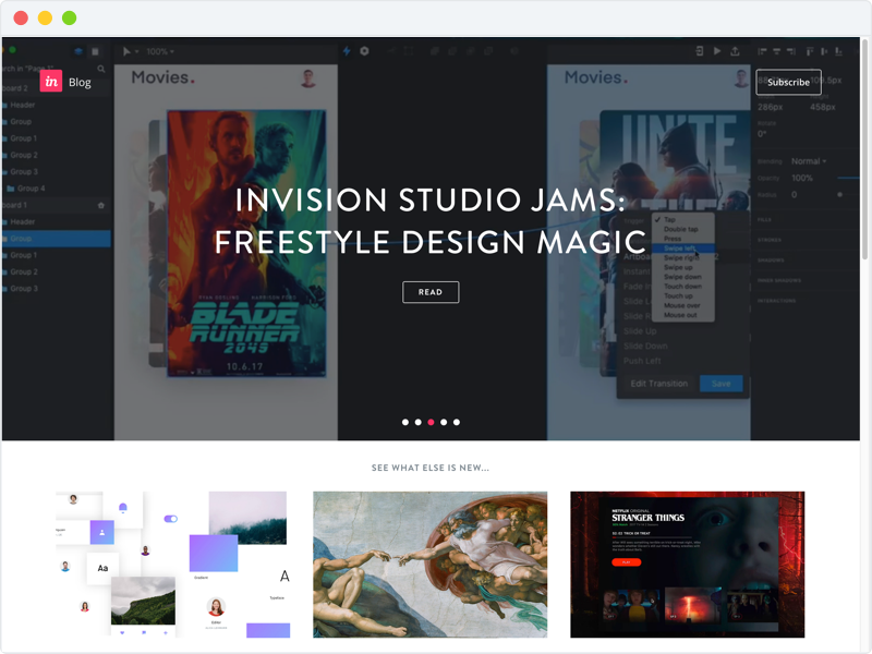 Invision UX/UI Design Inspiration