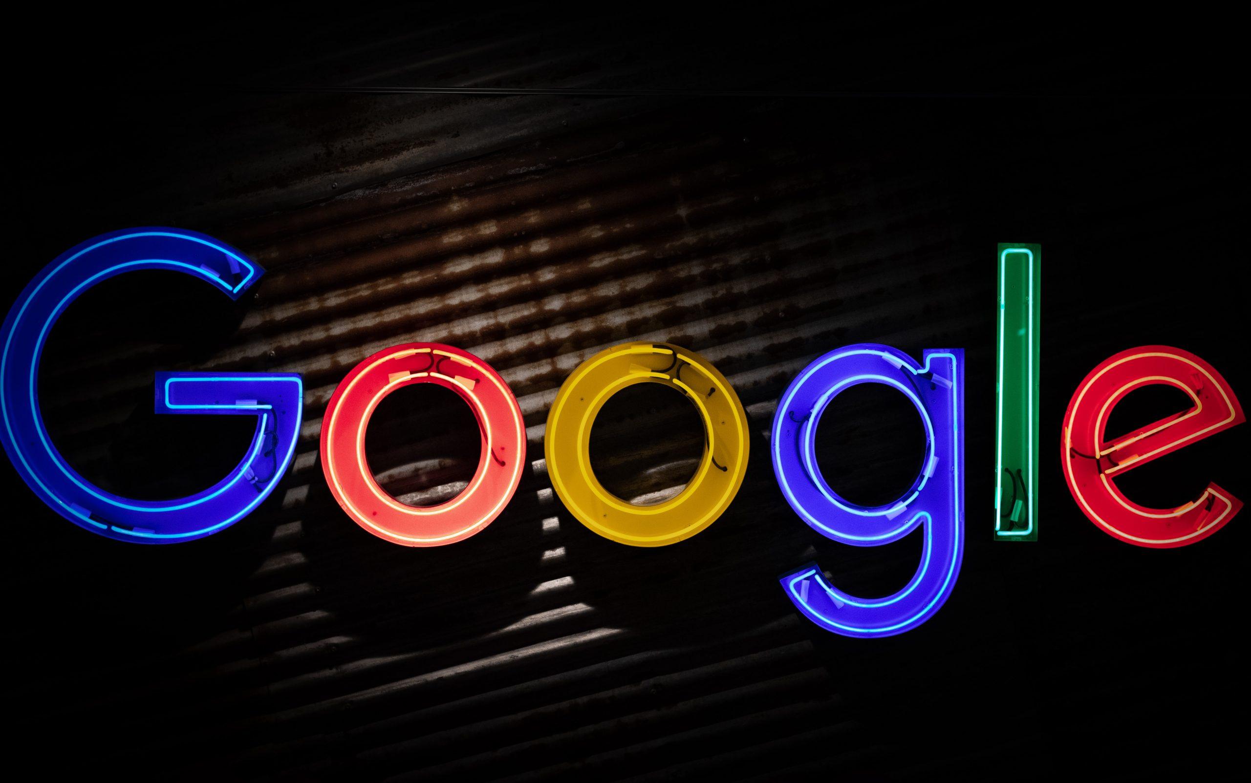 Google Neon Sign